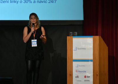 Kateřina Tygl vysupuje na Business Forum